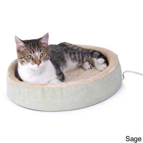 K&H Pet Products Thermo-Kitty Cuddle Up [option : Mocha]