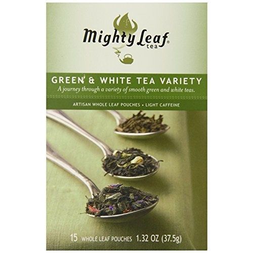 Mighty Leaf Tea Green Variety, 15 Count Whole Leaf Pouch, 1.32 oz (Packaging May vary)