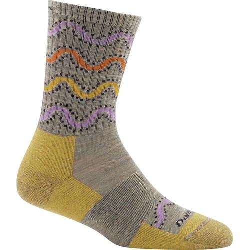 Darn Tough Wandering Stripe Micro Crew Light Cushion Socks - Women's