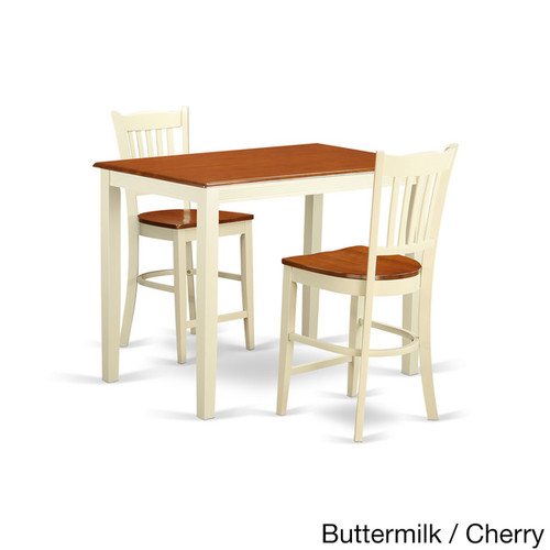 Cream/Natural Finish Solid Wood 3-piece Counter Height Pub Set [option : Natural]