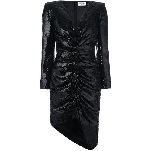SAINT LAURENT Sequin Embellished Dress
