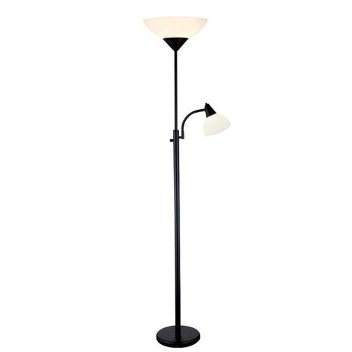 Adesso Piedmont 71 in. Black Combo Floor Lamp