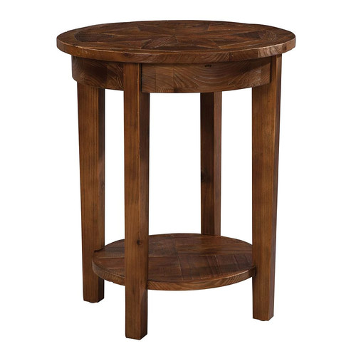 Alaterre Revive Reclaimed Round End Table, Natural
