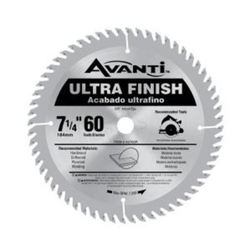 Avanti 7-1/4 in. x 60-Tooth Fine Finish Saw Blade