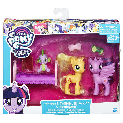 My Little Pony Friendship is Magic Pack Princess Twilight Sparkle and Applejack Dolls Playset