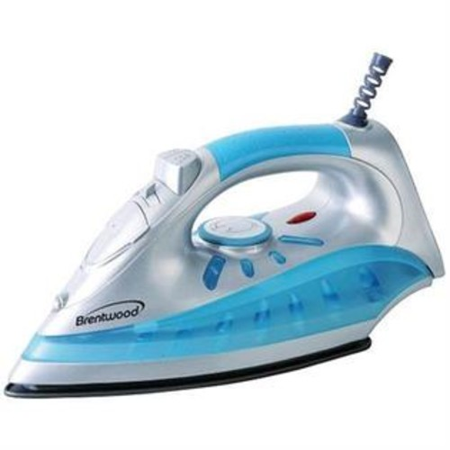 BRENTWOOD MPI 60 Nonstick Steam Dry Spray Iron with Silver Finish