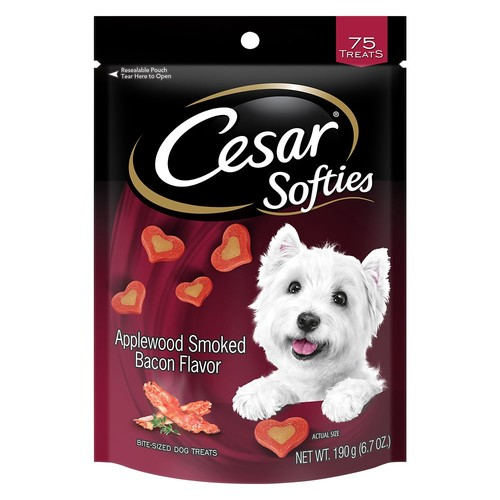 Cesar Softies Dog Treat - Applewood Smoked Bacon
