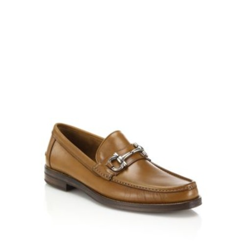 Loriano Leather Bit Loafers