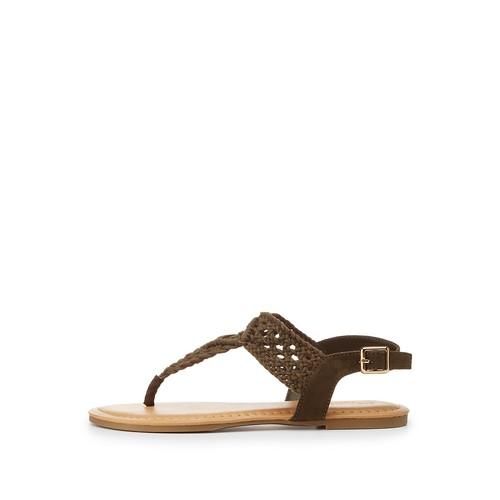 Crochet T-Strap Thong Sandals