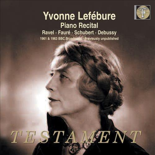Piano Recital: Ravel, Faur, Schubert, Debussy [CD]