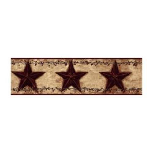 York Wallcoverings Best of Country Barn Star Berry Wallpaper Border