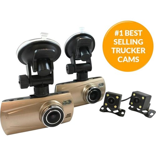 Top Dawg TD 1080P Quad DVR Dash Cam  4 Cameras, 2.7in. Color TFT-LCD Monitor, Model# TDCAMDUAL4