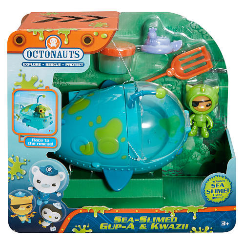 Fisher-Price Octonauts Sea-Slimed Gup-A and Kwazii Playset