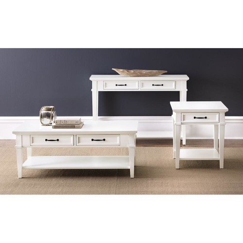 Home Decorators Collection Martin Ivory Built-In Storage Coffee Table