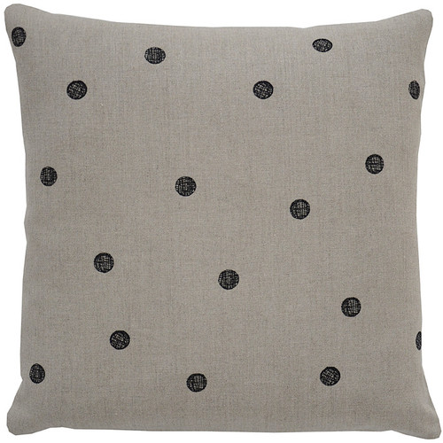 Dots Pillow [Fabric and Stitch : Hemp\/Black Stitch]