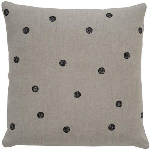 Dots Pillow [Fabric and Stitch : Hemp\/Black Stitch]