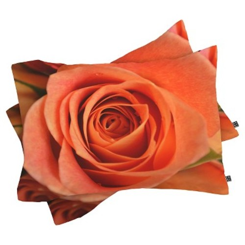 Allyson Johnson Rose Bud Lightweight Pillowcase Standard Orange DENY Designs