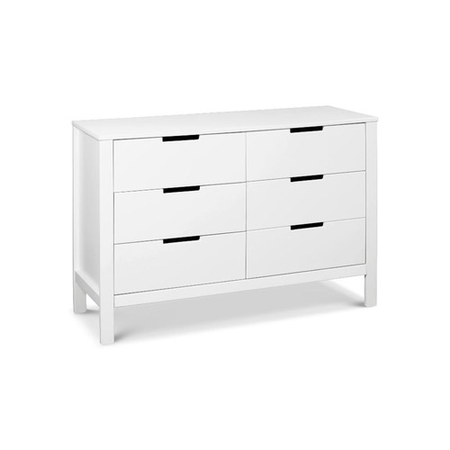 Carter's Colby 6 Drawer Double Dresser - White