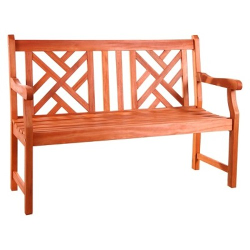 Vifah Atlantic 2-Seater Outdoor Bench - Brown