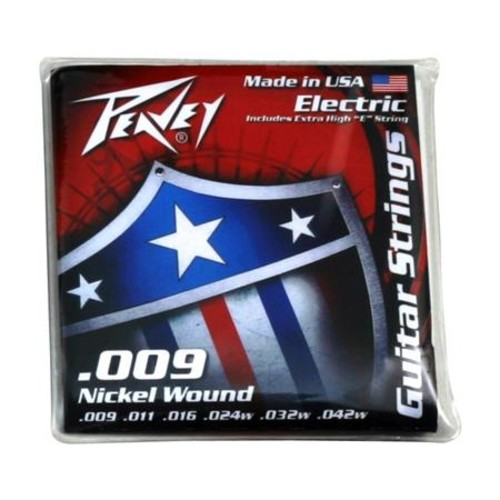 Peavey Nickel-Wound Guitar Strings, 9-42w Gauge, 6-String Set 00579450