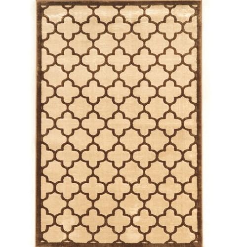 Linon Home Decor Products Inc. Platinum Trellis 2 Brown/Cream 2' x 3' Rug