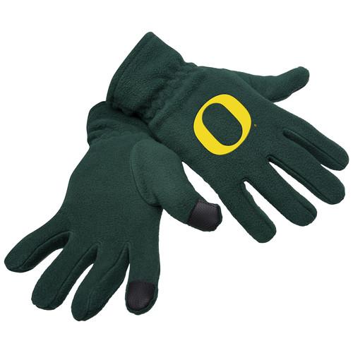 NCAA Mens Fleece Tech Gloves - Oregon Ducks