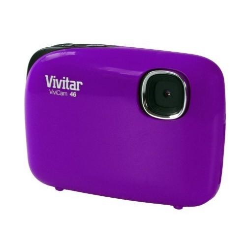 Vivitar V44 4MP Digital Camera with 1.5-Inch LCD Screen, Colors and Styles May Vary [Purple]