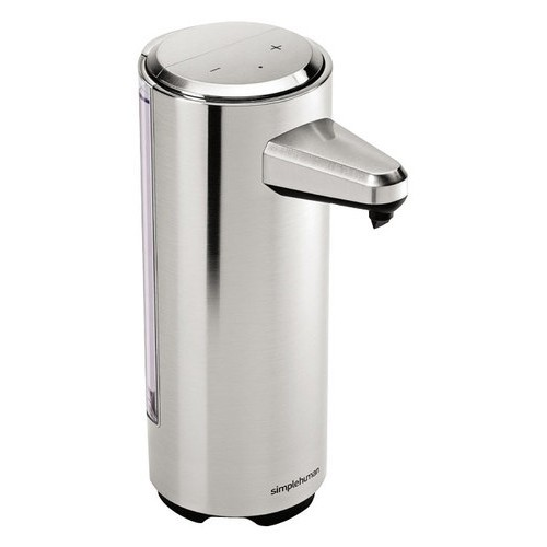 simplehuman - 8-Fl.-Oz. Rechargeable Sensor Soap Pump Dispenser - Brushed Nickel