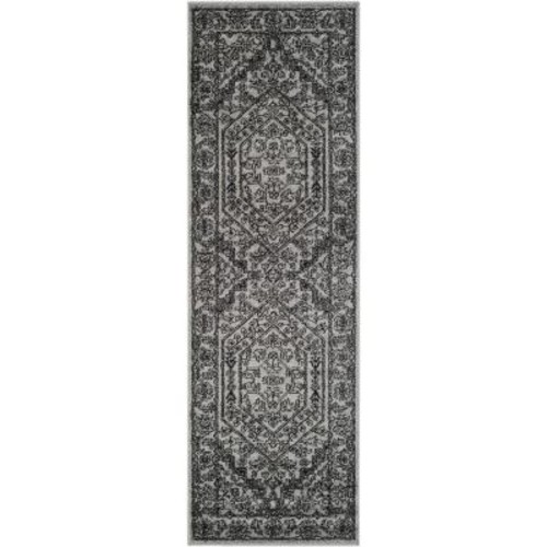 Safavieh Adirondack Silver/Black 2 ft. 6 in. x 18 ft. Runner