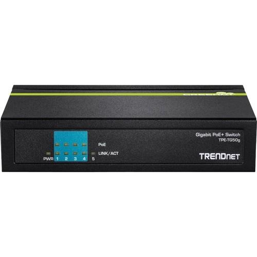 TRENDnet - 5-Port Gigabit PoE+ Switch - Multi