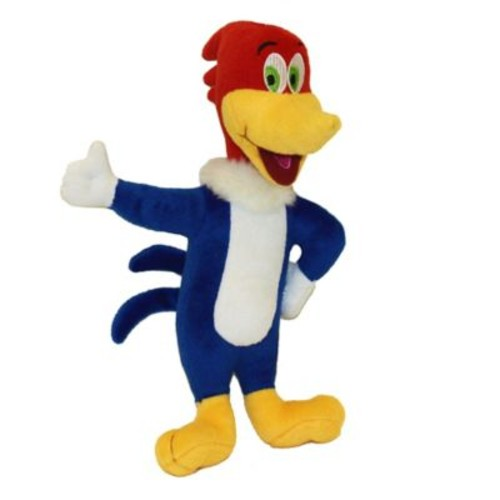Multipet Woody Woodpecker Laughing Plush Dog Toy
