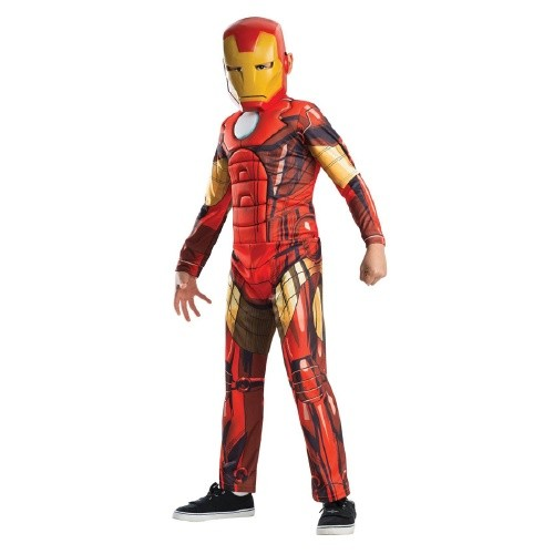 Rubies Costumes Boy's Avengers Assemble Deluxe Iron Man Kids Costume, Large (12-14), Red Yellow