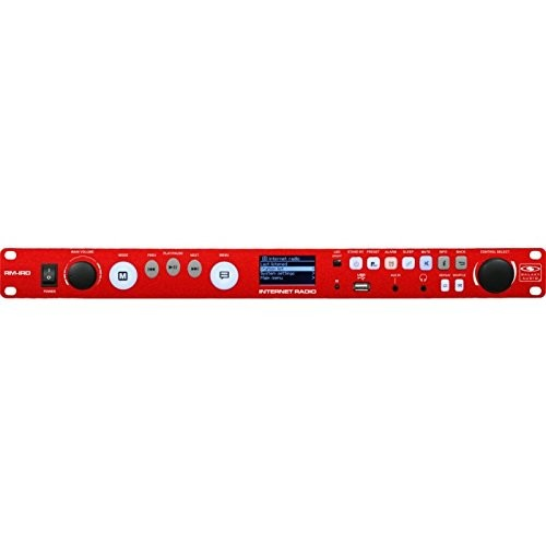 Galaxy Audio RM-IRD Rack Mount Internet Radio, Access to Over 20k Stations, FM with RDS, 1/8
