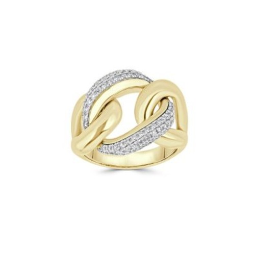 Saks Fifth Avenue - Diamond and 14K Yellow Gold Link Ring