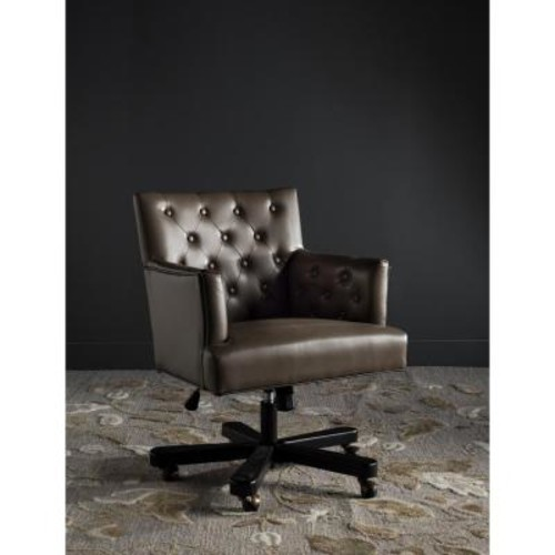 Safavieh Chambers Brown Bicast Leather Office Chair