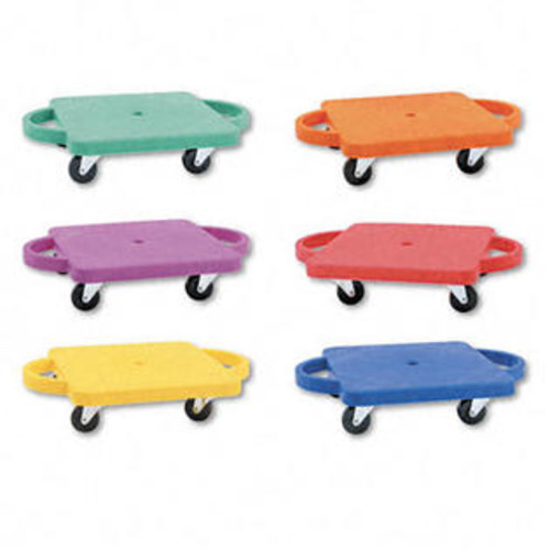 Champion Sports Champion Sport PGHSET Scooter Set with Swivel Casters Plastic/Rubber 12 x 12 Assorted Colors 6/Set