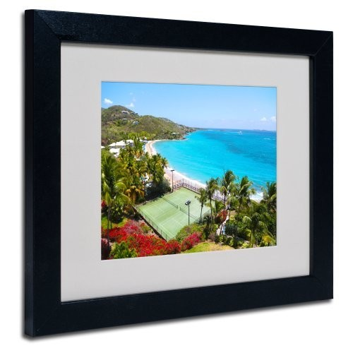Virgin Islands 5 Canvas Wall Art by CATeyes, Black Frame, 11 by 14-Inch [11 by 14-Inch]