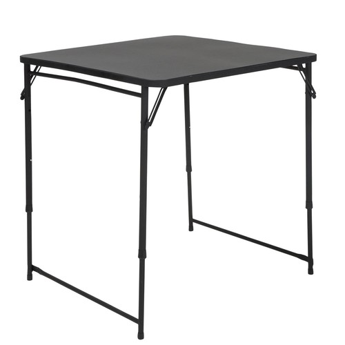 Cosco Home and Office Products 34 Black Square Adjustable Height PVC Top Table