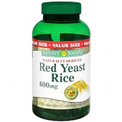 Nature's Bounty Red Yeast Rice 600 mg Dietary Supplement Capsules