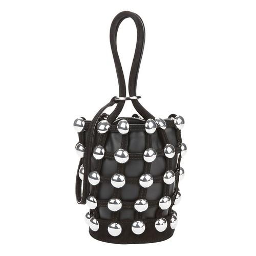 ALEXANDER WANG Roxy Studded Leather Mini Bucket Bag