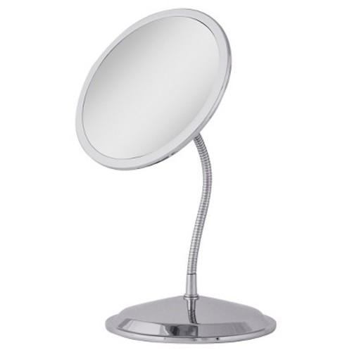 Zadro Double Vision Gooseneck Vanity Mirror in Chrome