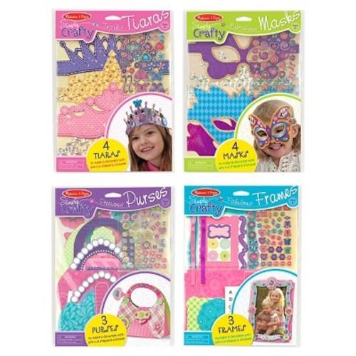 Melissa & Doug Simply Crafty Activity Kits Set -Terrific Tiaras, Marvelous Masks, Precious Purses, Fabulous Frames