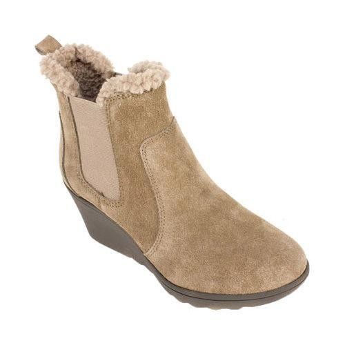 Women's White Mountain Kickoff Wedge Heel Chelsea Boot Taupe Suede [option : US Women's 5 M (Regular)]