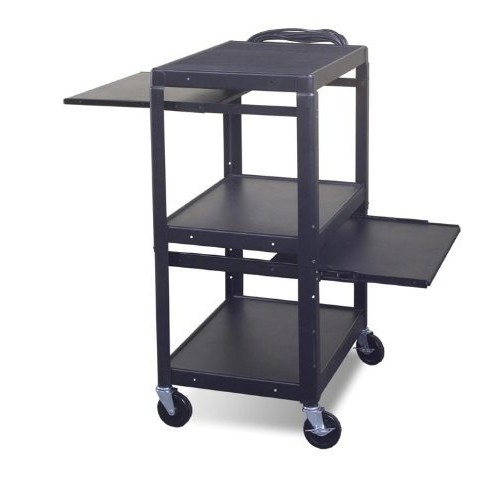Adjustable Laptop Cart with Optional Shelf