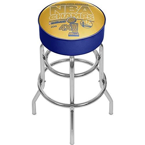 Trademark Gameroom NBA Champs Golden State Warriors Chrome Bar Stool with Swivel
