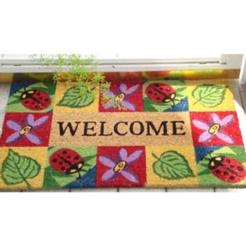 Creative Accents SuperScraper Ladybug Welcome Doormat