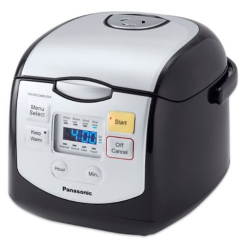 Panasonic 4-Cup Microcomputer Controlled Rice Cooker in Black/Silver