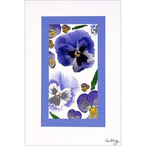 Pansy Window by Kathie McCurdy, 16x24-Inch Canvas Wall Art