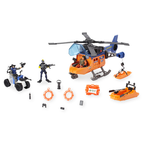 True Heroes Rescue Helicopter Tactical Unit Playset