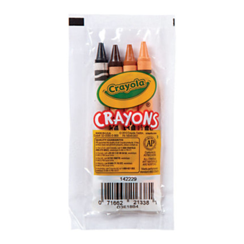 Crayola Standard Crayons, Assorted Colors, Pack Of 4
